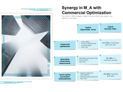 Synergy In M A With Commercial Optimization Ppt PowerPoint Presentation Pictures