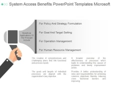 System Access Benefits Ppt PowerPoint Presentation Visuals