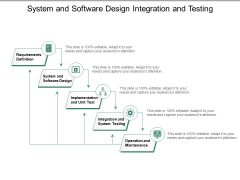 System And Software Design Integration And Testing Ppt PowerPoint Presentation Outline Example Introduction