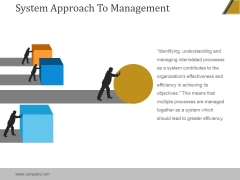 System Approach To Management Ppt PowerPoint Presentation Graphics