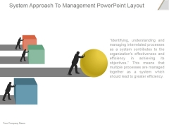 System Approach To Management Ppt PowerPoint Presentation Visuals