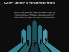 System Approach To Management Process Ppt PowerPoint Presentation Design Ideas