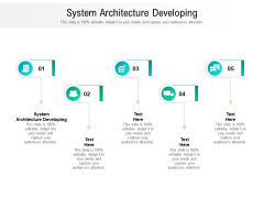 System Architecture Developing Ppt PowerPoint Presentation Slides Professional Cpb Pdf