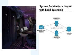 System Architecture Layout With Load Balancing Ppt PowerPoint Presentation File Design Templates PDF