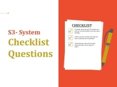 System Checklist Questions Ppt PowerPoint Presentation Slides Infographics