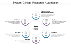 System Clinical Research Automation Ppt PowerPoint Presentation Model Deck Cpb Pdf
