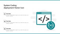 System Coding Deployment Vector Icon Mockup PDF