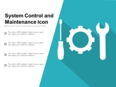 System Control And Maintenance Icon Ppt PowerPoint Presentation Portfolio Maker