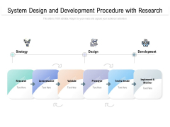 System Design And Development Procedure With Research Ppt PowerPoint Presentation Slides Infographic Template PDF