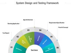 System Design And Testing Framework Ppt PowerPoint Presentation Gallery Brochure PDF
