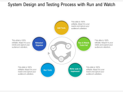 System Design And Testing Process With Run And Watch Ppt PowerPoint Presentation File Background PDF