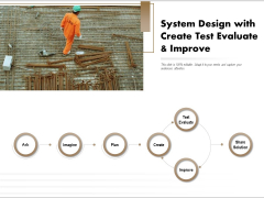 System Design With Create Test Evaluate And Improve Ppt PowerPoint Presentation Slides Design Templates