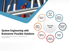 System Engineering With Brainstorm Possible Solutions Ppt PowerPoint Presentation File Outline