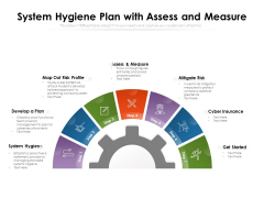 System Hygiene Plan With Assess And Measure Ppt PowerPoint Presentation File Graphics PDF