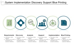 System Implementation Discovery Support Blue Printing Ppt PowerPoint Presentation Portfolio Portrait
