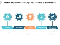 System Implementation Steps For Continuous Improvement Ppt PowerPoint Presentation Model Layout