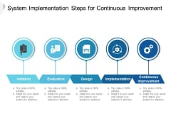 System Implementation Steps For Continuous Improvement Ppt PowerPoint Presentation Show Brochure