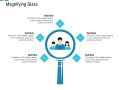 System Integration Model Magnifying Glass Ppt Styles Brochure