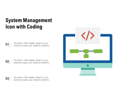 System Management Icon With Coding Ppt PowerPoint Presentation Show Diagrams PDF