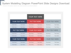 System Modelling Diagram Powerpoint Slide Designs Download