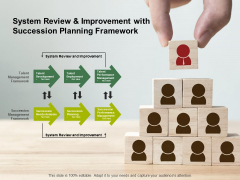 System Review And Improvement With Succession Planning Framework Ppt PowerPoint Presentation Inspiration Design Templates