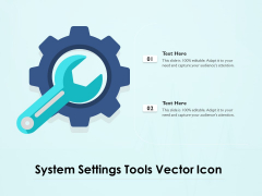 System Settings Tools Vector Icon Ppt PowerPoint Presentation Gallery Outfit PDF