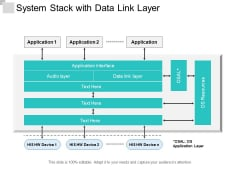 System Stack With Data Link Layer Ppt PowerPoint Presentation Summary Graphics Download PDF