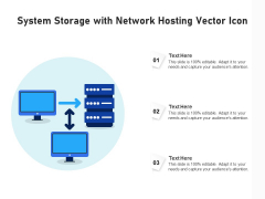 System Storage With Network Hosting Vector Icon Ppt PowerPoint Presentation Gallery Brochure PDF
