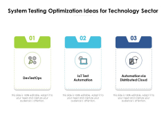 System Testing Optimization Ideas For Technology Sector Ppt PowerPoint Presentation Outline Graphics PDF