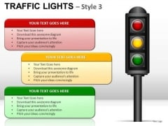 Safety Traffic Light PowerPoint Slides And Ppt Diagram Templates