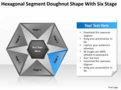 Sagment Doughnut Shape With Six Stage Ppt How To Write Business Plans PowerPoint Slides