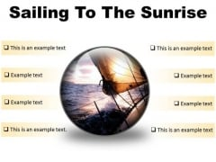 Sailing To The Sunrise Nature PowerPoint Presentation Slides C