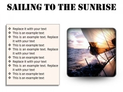 Sailing To The Sunrise Nature PowerPoint Presentation Slides S
