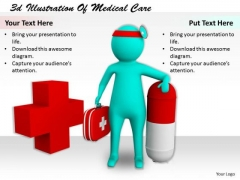 Sales Concepts 3d Illustration Of Medical Care Character Modeling