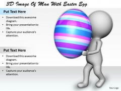 Sales Concepts 3d Image Of Man With Easter Egg Characters