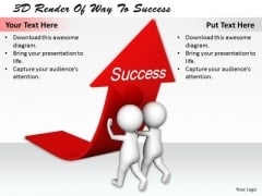 Sales Concepts 3d Render Of Way To Success Basic Business