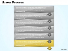 Sales PowerPoint Template Arrow Process 6 Stages Operations Management Image