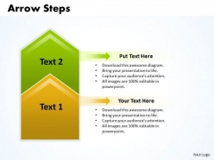 Sales PowerPoint Template Arrow Steps 2 Stages Graphic