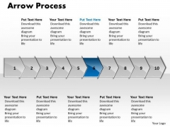 Sales Ppt Arrow Process 10 Phase Diagram Business Strategy PowerPoint 7 Design