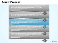 Sales Ppt Arrow Process 5 Power Point Stages Business Plan PowerPoint 4 Graphic