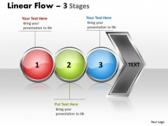 Sales Ppt Background Horizontal Flow Of 3 Stages Operations Management PowerPoint 1 Image