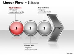 Sales Ppt Background Horizontal Flow Of 3 Stages Operations Management PowerPoint 2 Image