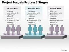 Sales Ppt Project Targets Process 3 Power Point Stage Business Plan PowerPoint Graphic
