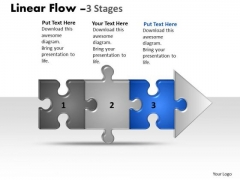 Sales Ppt Template Linear Flow 3 Stages Style1 Operations Management PowerPoint 4 Graphic