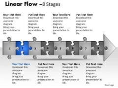 Sales Ppt Template Linear Flow 8 Stages Style1 Project Management PowerPoint 3 Image