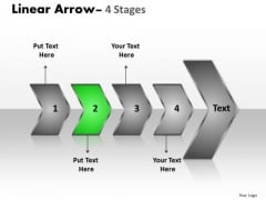 Sales Ppt Theme Succeeding Media Representation Theory PowerPoint Of 4 Arrows Design
