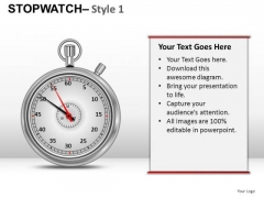 Sales Stopwatch 1 PowerPoint Slides And Ppt Diagram Templates
