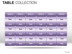 Sales Table Collection PowerPoint Slides And Ppt Diagram Templates