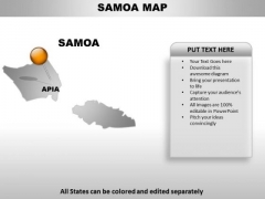 Samoa Country PowerPoint Maps