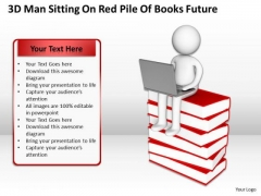 Sample Business Organizational Chart Sitting Red Pile Of Books Education PowerPoint Templates